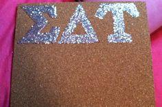 Sparkly cork board