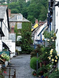 Charming cobbled streets of Clovelly in Devon, England (by saxonfenken).
