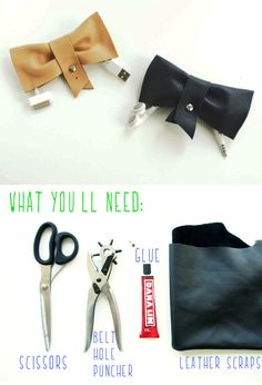 Cord Organizer DIY - synthetic leather will do for this project