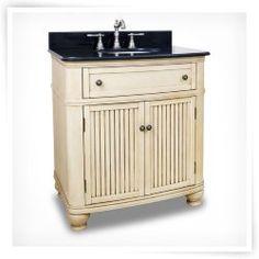 Bath Elements 32-in. Compton Buttercream Single Bathroom Vanity with Optional Mirror