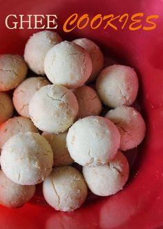 YUMMY TUMMY: Ghee Cookies / Eggless Ghee Biscuits - Just 4 Ingredients