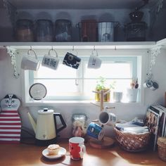 nicoさんの、キッチン,IKEA,雑貨,カラフル,DIY,マリメッコ,カフェ風,北欧,リサラーソン,おうちカフェ,北欧食器,北欧風,マフィン,グリーンのある暮らし,レコルトクラシックケトル,カラフルインテリア,おうち時間,のお部屋写真