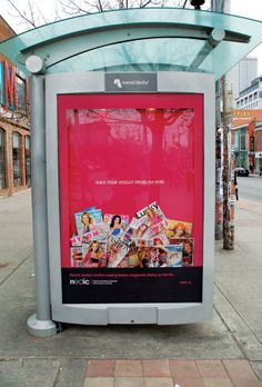 Too cool: this bus stop poster from Nedic acts as a garbage can for the kind of media that gives women unrealistic ideas of what it means to be attractive.