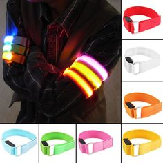 Men's Accessories Apparel Accessories Creative Arm Glow Party Supplies Glow Bangle Reflective Led Light Arm Armband Strap Safety Belt For Night Running Cycling