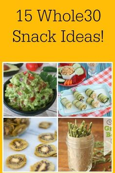 Whole30 snacks are nice to have on hand to make sure you stay on target! Here are 15 of them to help you out!