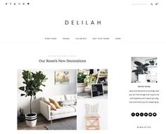 Delilah - A WordPress Blog Theme by NadaNora on @creativemarket