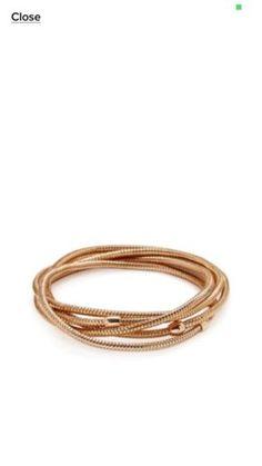 18K Gold Rose Solid Roberto Coin PRIMAVERA Bangle Bracelets Stretch NEW - http://elegant.designerjewelrygalleria.com/roberto-coin/18k-gold-rose-solid-roberto-coin-primavera-bangle-bracelets-stretch-new/