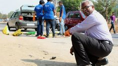 """The man who uses his pension fund to fill potholes - Gangadhara Tilak Katnam is a retired civil servant who uses his pension fund to repair potholes in the southern Indian city of Hyderabad. The BBC's Geeta Pandey spends a day with the man christened the """"doctor of roads""""."""