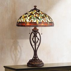 Blossoming Leaf and Vine Tiffany Table Lamp | shopswell