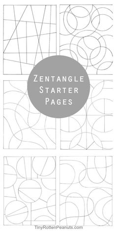 Tiny Rotten Peanuts | Zentangle Patterns and Starter Pages | http://tinyrottenpeanuts.com: