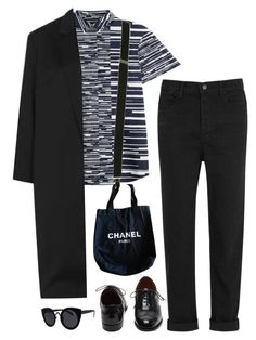 """""""Suspenders"""" by mywayoflife ❤ liked on Polyvore featuring Jil Sander Navy, Wet Seal, T By Alexander Wang, Mulberry, Topshop, Chanel, women's clothing, women, female and woman"""