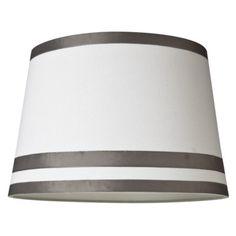 Great idea for a DIY lamp shade! Wrap & glue ribbon to lamp shade!