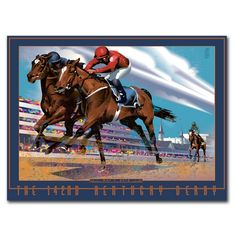"""Official 2016 Kentucky Derby Poster. Official art of the 142nd running of the Kentucky Derby, by artist John Mattos. Printed in the USA. 18"""" x 24"""""""
