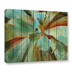 Bay Isle Home Summer Succulent Painting Print on Wrapped Canvas