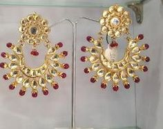 combination of american diamond and kundan together and American ...
