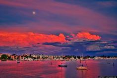 Moon Rise Over Palm Beach, FL