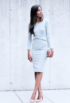 Simple Elegance Elegant minimalist outfit Grey minimalist outfit Christian Louboutin nude Pigalle patent outfit