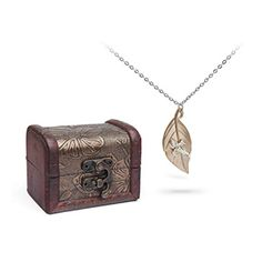 Gold/Sterling Silver Firefly Leaf on the Wind Necklace | ThinkGeek