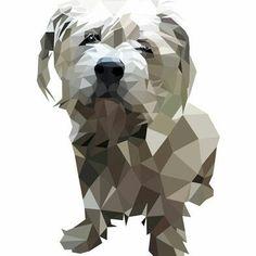 Custom Geometric Dog portrait Art print Art poster