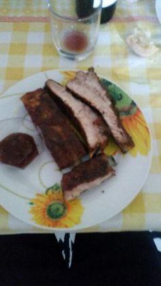Ribs cotte con salsa bbq