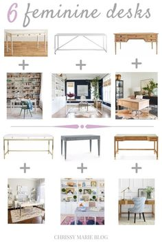 11 Stunning Home Offices With Feminine Desks - Chrissy Marie Blog Cozy Home Office, Best Home Office Desk, Home Office Chairs, Office Decor, Office Ideas, Office Setup, Feminine Office, Feminine Home Offices, Home Office Furniture Design