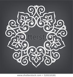 Find Circular Abstract Floral Pattern Mandala Round stock images in HD and millions of other royalty-free stock photos, illustrations and vectors in the Shutterstock collection. Stencil Patterns, Stencil Designs, Motifs Islamiques, Beautiful Rangoli Designs, Motif Floral, Floral Flowers, Circular Pattern, Mandala Drawing, Simple Rangoli