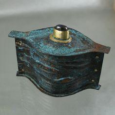 Michele Lukowski - Under the Sea container Sea Containers, Under The Sea, Metal Jewelry, Metal Art, Portland, Contemporary Art, Bronze, Gemstones, Steel