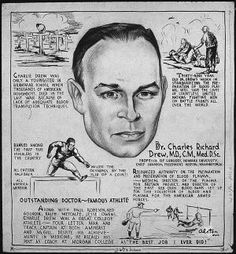 Charles Drew, Inventor of the Blood Bank: Illustration of Drew by…