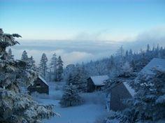 Leconte Lodge in the winter
