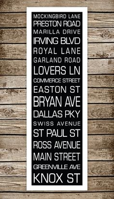 This etsy shop can customize their destination prints to any town you want.