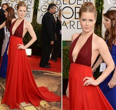 Amy Adams Golden Globe Awards 2014  #celebrities #redcarpet