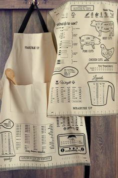 18 Old-Fashioned Kitchen Products You Won't Regret Buying – A cheat-sheet apron that will make people think you've been doing this for years.