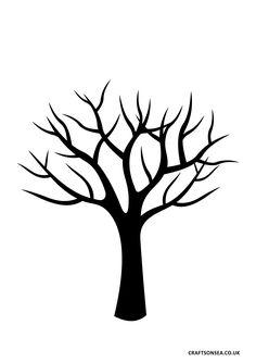 free tree template crafts on sea Printable Stencil Patterns, Templates Printable Free, Printables, Tree Templates, Leaf Template, Crown Template, Applique Templates, Flower Template, Applique Patterns