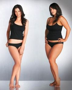 And what is wrong with being a woman with curves? a nod to being a fan of a shapely woman's figure.