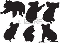 koala-silhouette-collection