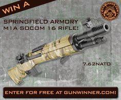 Enter to win this M1A SOCOM rifle from GunWinner.com