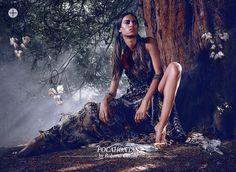 Pocahontas by Roberto Cavalli, at Harrods november editorial. Disney Princesses by fashion designers.