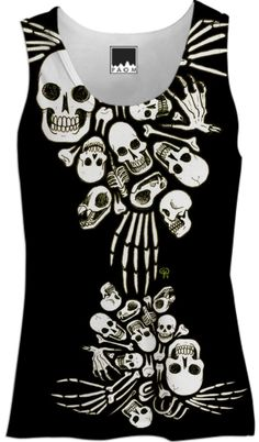 Bones Womens Tank from Print All Over Me