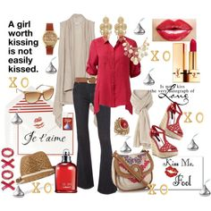X's and O's, created by tammielou1958 on Polyvore