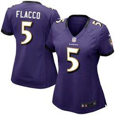 Nike Joe Flacco Baltimore Ravens Women's Game Jersey - Purple