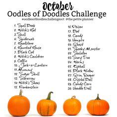 Doodle Challenge, Art Journal Challenge, 30 Day Drawing Challenge, 2017 Challenge, Challenge Ideas, Fall Drawings, Doodle Drawings, Doodle Art, Dragon Drawings