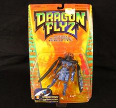 Dragon Flyz Dread Wing Action Figure NEW 1996 MOC Molten Lava Skin Galoob Toy