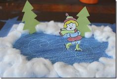 Cute ice skating craft for Norway-we actually did this already! The kids loved…