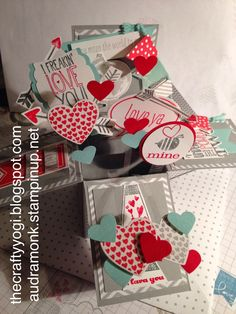 Thursday, February 20, 2014  the crafty yogi: Cards in a Box Hearts a Flutter