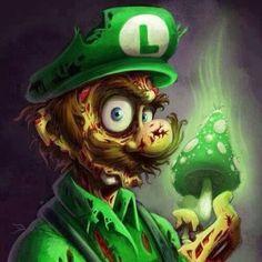 Zombie Luigi Your 1 Source for Video Games, Consoles & Accessories! Multicitygames com is part of Mario fan art - Art Zombie, Zombie Cartoon, Cartoon Art, Arte Horror, Horror Art, Fan Art Mario, Disney Stars, Zombies, Game Art