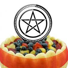 Pentagram Cake Top Topper