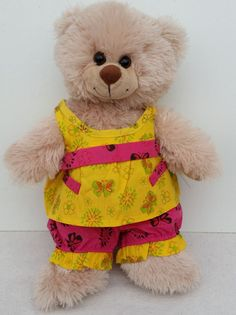 """15"""" Yellow and Pink Summer Outfit"""