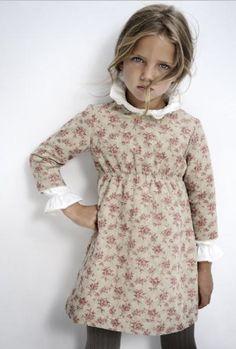 """Robe courte """"New Romance"""" Retro-Vintage pour petite fille : Mode filles par rose-de-roz"""
