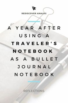 One year in review: Bullet Journal in a Traveler's Notebook Bullet Journal Tracker, Bullet Journal Notebook, Types Of Journals, Stream Of Consciousness, Planner Decorating, Planner Organization, First Year, Travelers Notebook, Keep It Cleaner