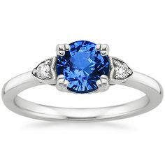 18K White Gold Sapphire Aria Diamond Ring from Brilliant Earth